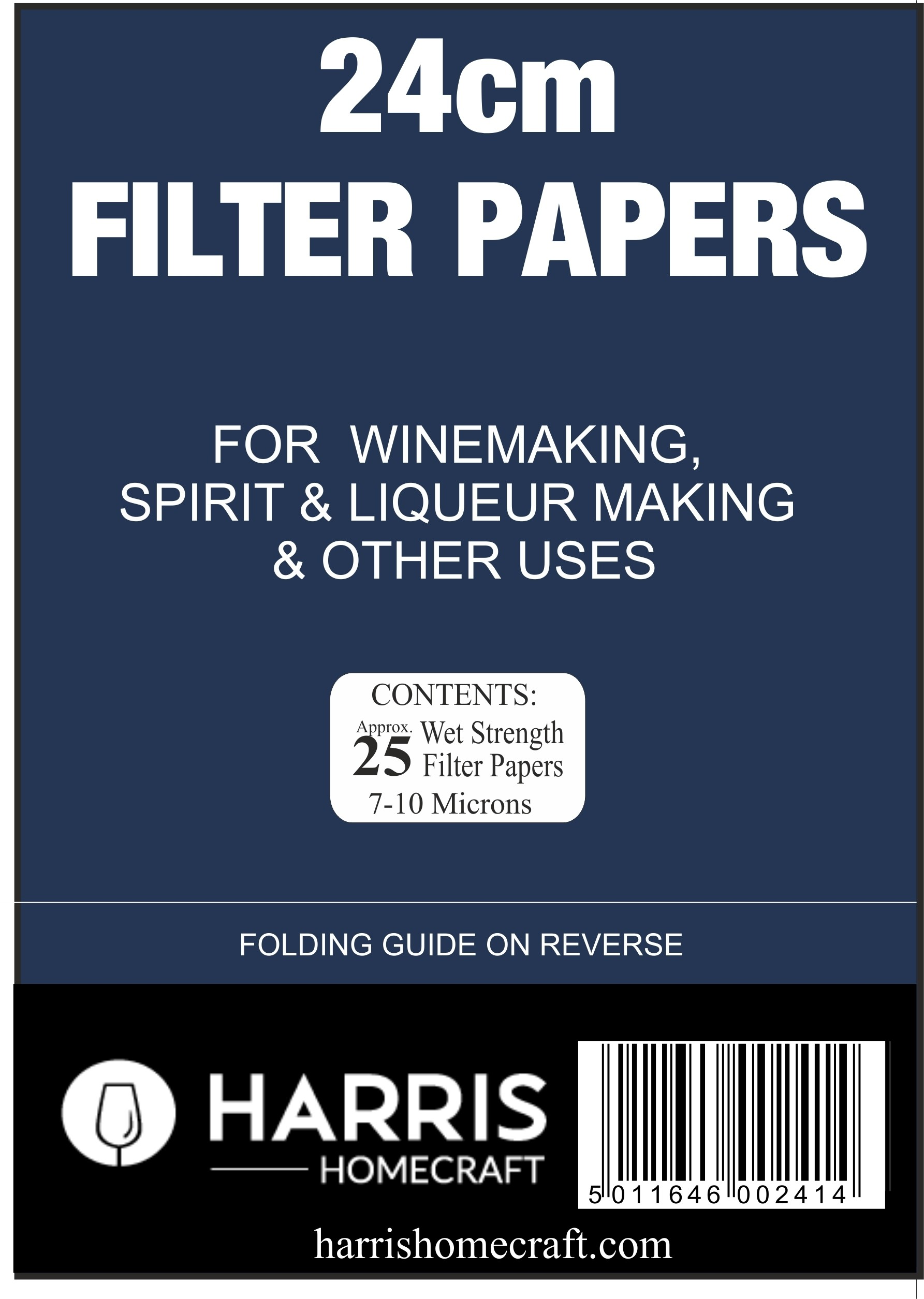 Harris 24cm Vinpapers (Filter Papers)
