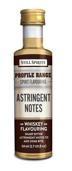 Whiskey Profile Range Astringent Notes Flavouring