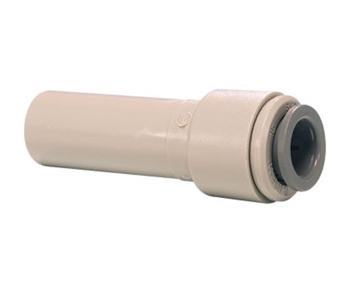 """A John Guest 3/8"""" - 1/4"""" Stem Reducer to reduce the tube used"""