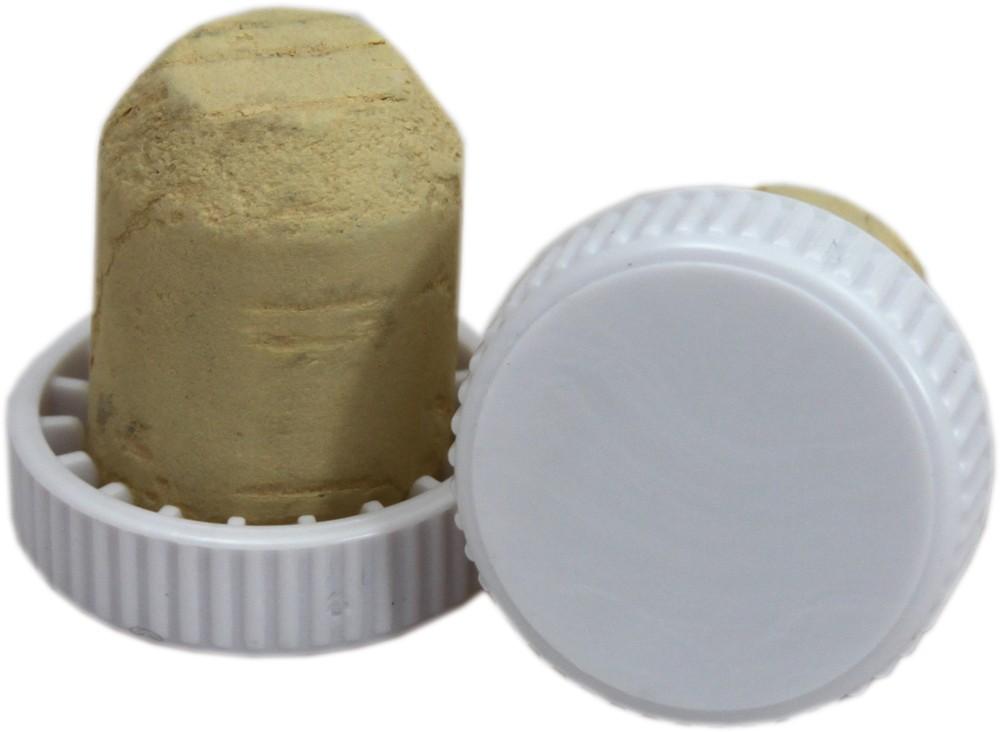 white plastic topped corks