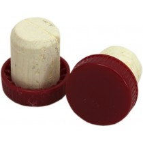 red plastic topped corks