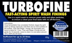 Turbofine - Fast-Acting Spirit Wash Finings